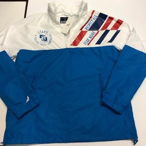 Stable pigeon white/blue windbreaker jacket small